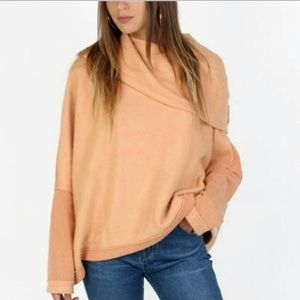 NWT Free People Huntington Pullover In 🍑 Peach